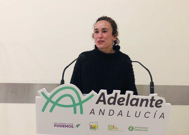 Archivo - La parlamentaria andaluza de Adelante Andalucía, Ana Naranjo, en una imagen de archivo.