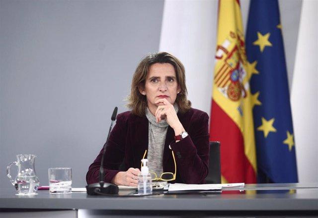 Archivo - La vicepresidenta cuarta y ministra de Transición Ecológica y Reto Demográfico, Teresa Ribera