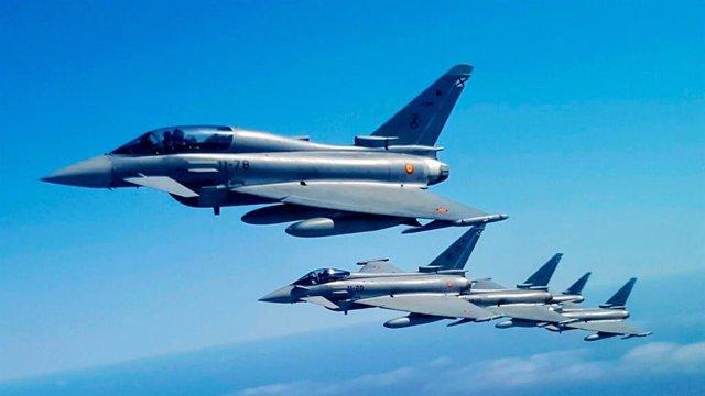 Archivo - Eurofighter del Ejército del Aire