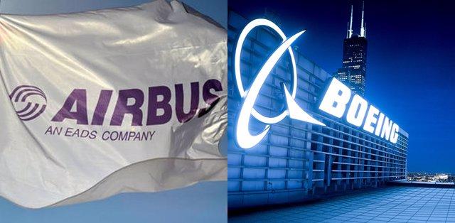 Archivo - Airbus y Boeing