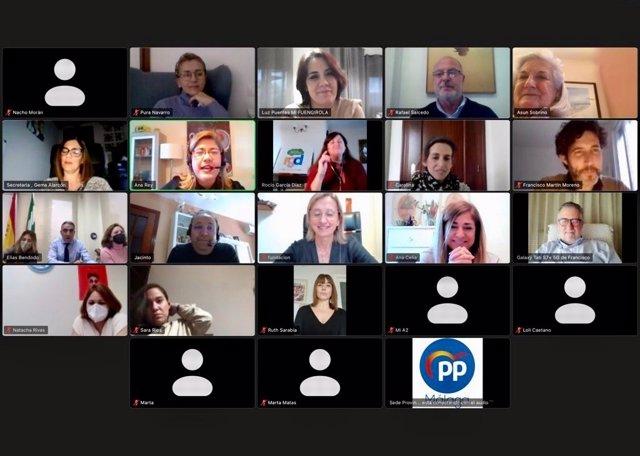 Reunión PP de Málaga con representantes del tejido social