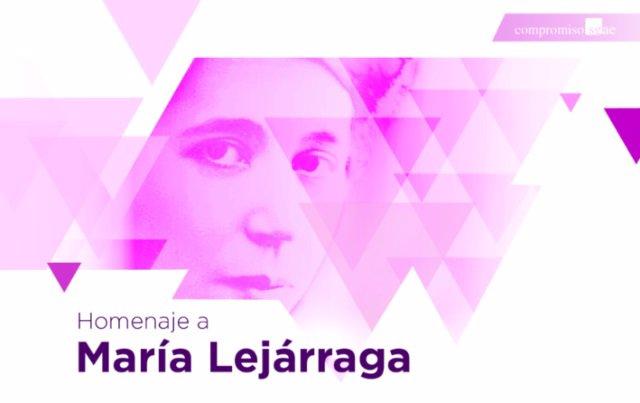 Cartel del homena a María Lejárraga