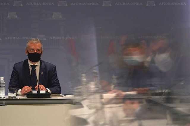 El lehendakari, Iñigo Urkullu, preside la reunión del comité asesor del Plan de Protección Civil de Euskadi (LABI) en Lehendakaritza