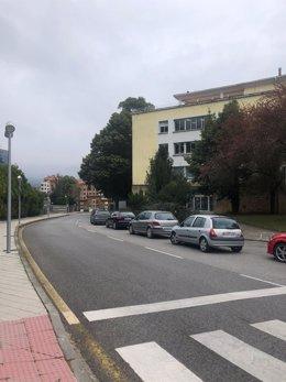 Punto de vacunación en el vehículo (autovac) en Oviedo