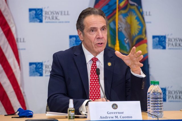 Archivo - 27 January 2021, US, New York: New York Governor Andrew Cuomo speaks during a press conference about the easing of coronavirus restrictions on indoor dining. Photo: Darren Mcgee/TNS via ZUMA Wire/dpa