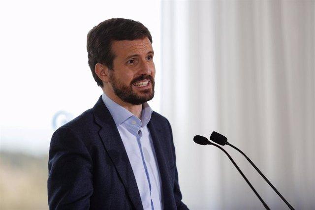 El presidente del Partido Popular, Pablo Casado, en una imagen de archivo