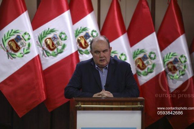 El candidato a la Presidencia de Perú Rafael López Aliaga.