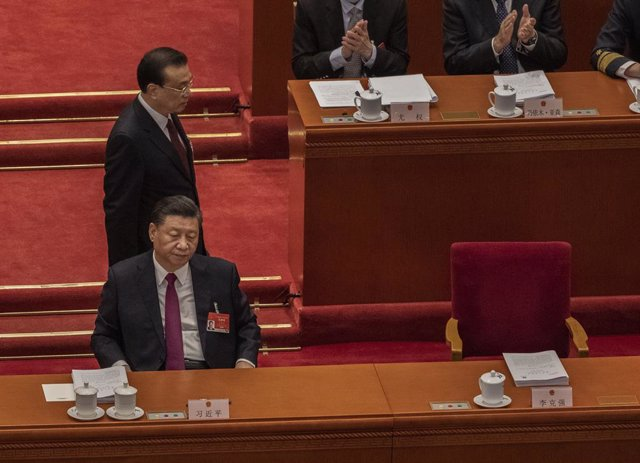 El presidente de China, Xi Jinping, en el congreso anual del Partido Comunista Chino.