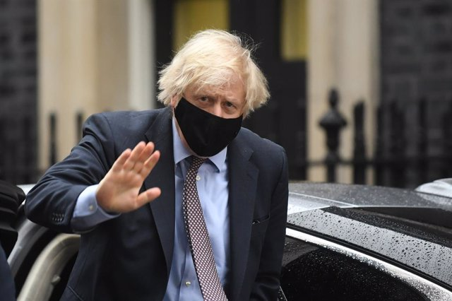 03 March 2021, United Kingdom, London: UK Prime Minister Boris Johnson returns to 10 Downing Street after attending Prime Minister's Questions session and the delivery of the Budget at the House of Commons. Photo: Victoria Jones/PA Wire/dpa