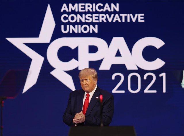El expresidente estadounidense Donald Trump en la Conferencia de Acción Política Conservadora (CPAC)