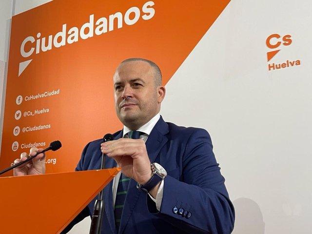El parlamentario de Cs por Huelva y vicepresidente tercero del Parlamento de Andalucía, Julio Díaz, en una imagen de archivo.