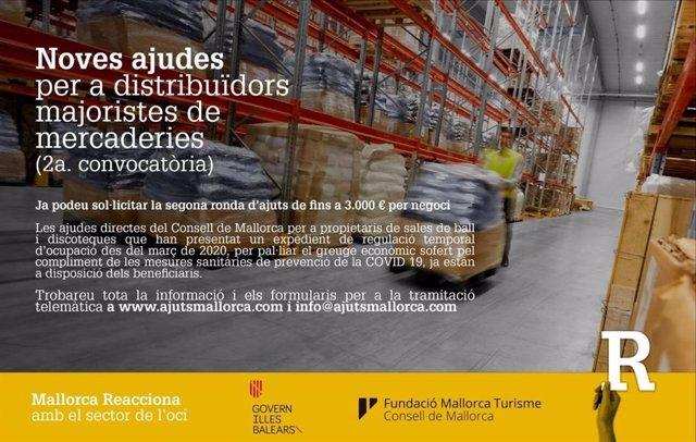 El Consell abre la segunda convocatoria de ayudas directas para empresas de distribución mayorista y discotecas.