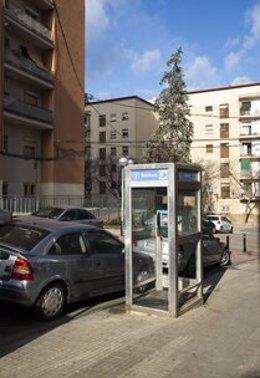 Última cabina amb sostre, portis i recoberta de vidre a Barcelona