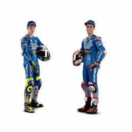 Los pilotos del Team Suzuki Ecstar Joan Mir y Alex Rins