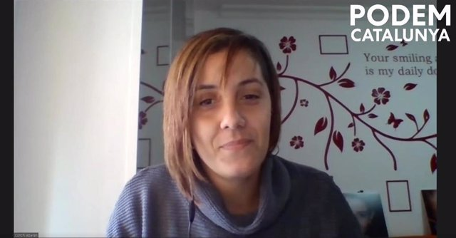 Archivo - La líder de Podem Catalunya, Conchi Abellán
