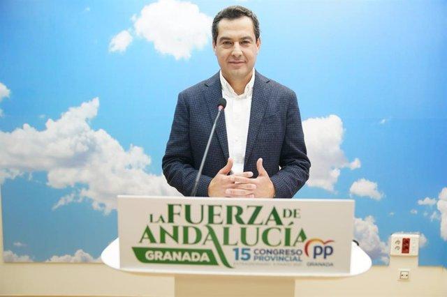 El presidente del PP-A y de la Junta de Andalucía, Juanma Moreno.