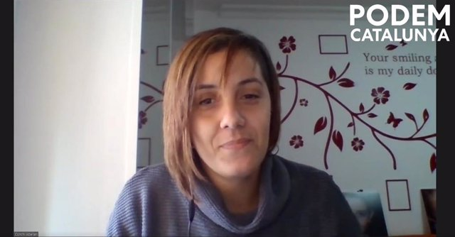 Archivo - Arxiu - La líder de Podem Catalunya, Conchi Abellán