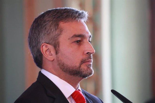 Archivo - Arxiu - El president del Paraguai, Mario Abdo Benítez