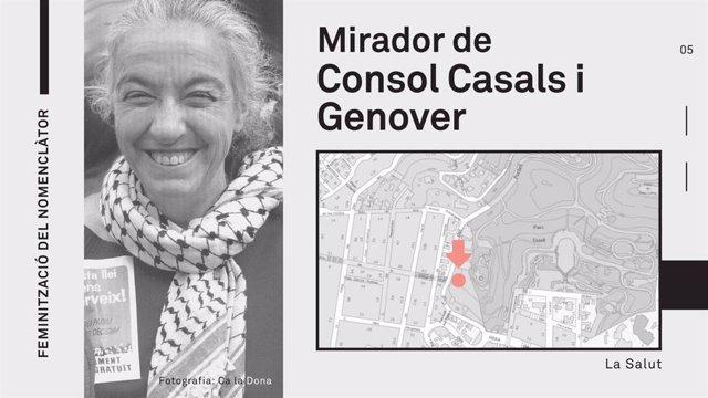 Barcelona inaugura el mirador Consol Casals