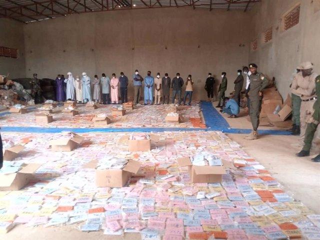 Confiscació de cànnabis al Níger