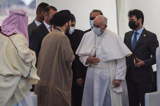 El papa en la trobada interreligiosa a Ur