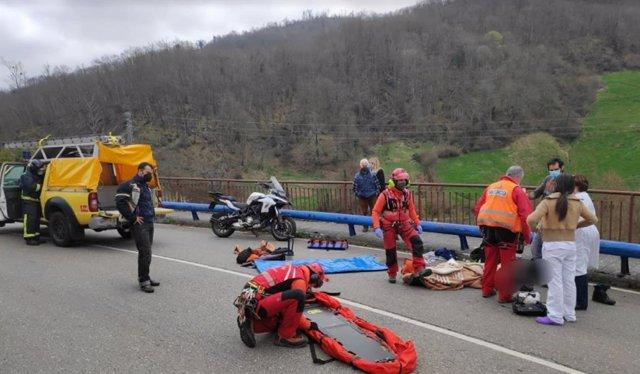 Accidente en Quirós