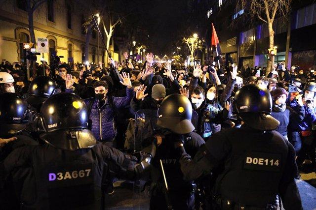 Nova manifestació a Barcelona