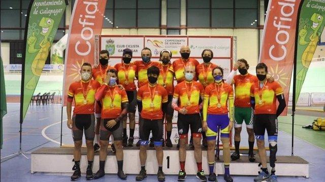 Galapagar proclama a los primeros Campeones de España de Ciclismo Adaptado en Pista 2021
