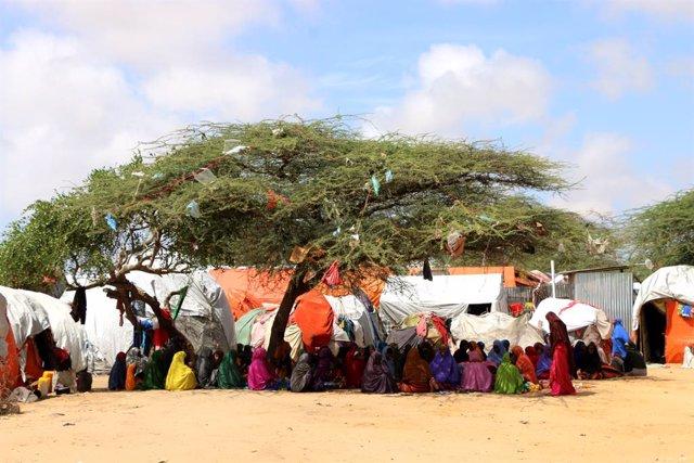 Archivo - Desplazados internos en Somalia