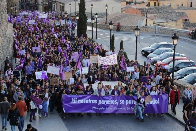 Archivo - Manifestación del 8M en Toledo