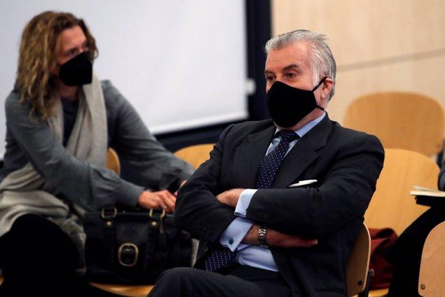 El extesorero del PP Luis Bárcenas durante el juicio por la presunta caja 'b' del PP