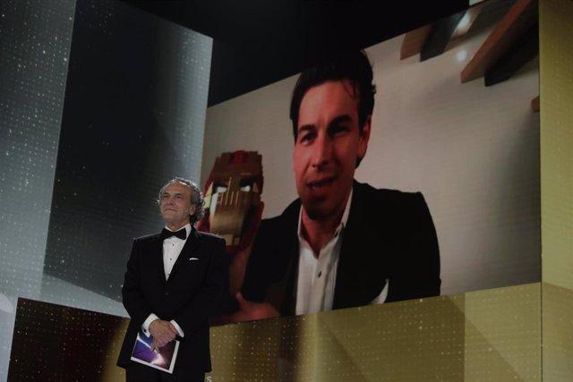 Mario Casas, Mejor Actor Protagonista en los Premios Goya 2021 en Madrid, a 6 de marzo de 2021