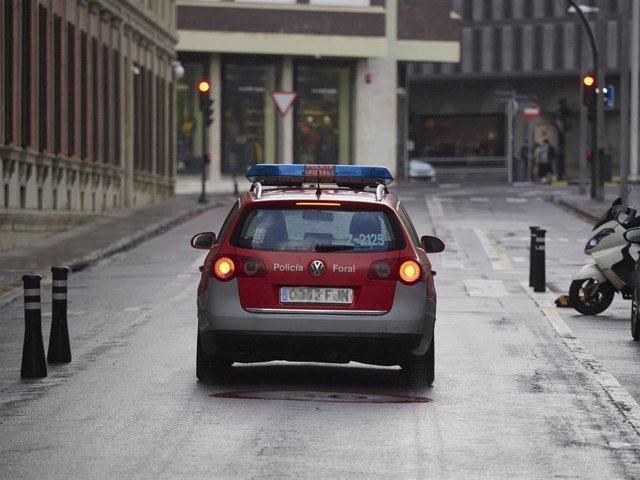 Un coche patrulla de la Policía Foral