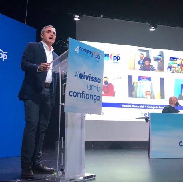El reelegido presidente del PP de Ibiza, Jose Vicente Marí Bosó.