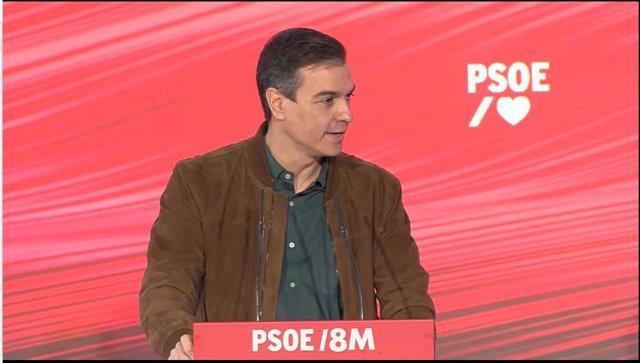 El presidente del Gobierno , Pedro Sánchez