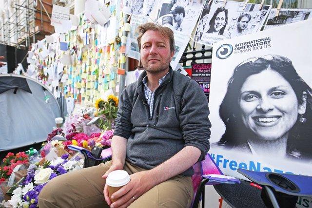 Archivo - Richard Ratcliffe, esposo de la ciudadana británica, Nazanin Zaghari-Ratcliffe, condenada por conspiración en Irán