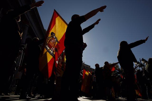 Acto fascista en Madrid