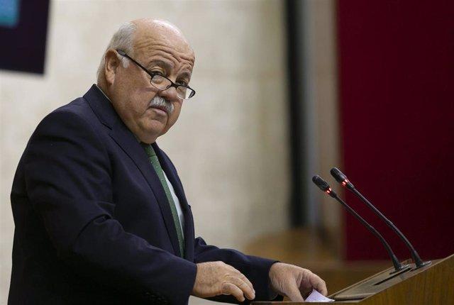 Archivo - El consejero de Salud y Familias, Jesús Aguirre.
