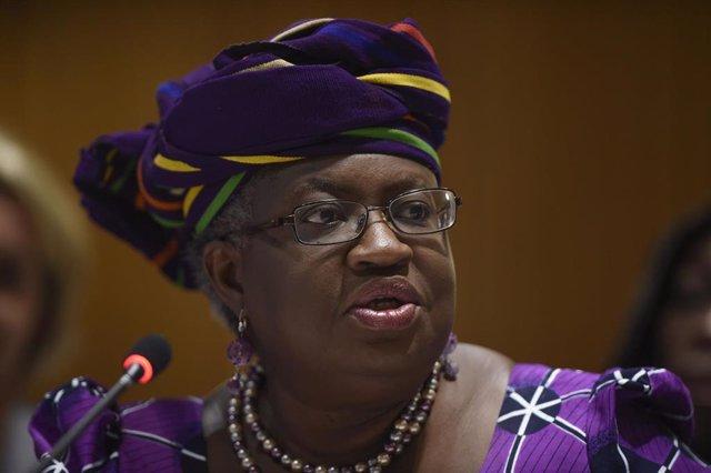 Archivo - La presidenta de la OMC, Ngozi Okonjo-Iweala.