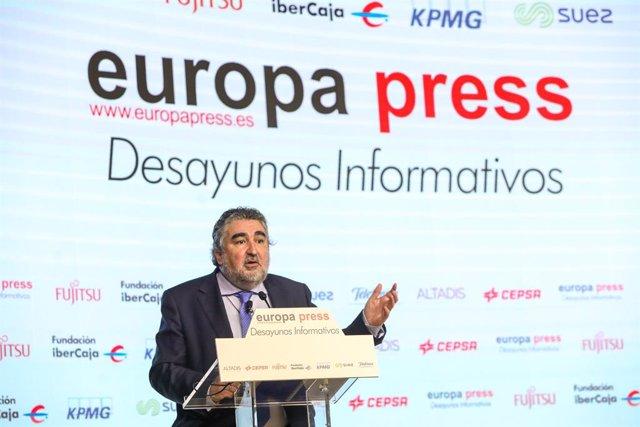 El ministro de Cultura y Deporte, José Manuel Rodríguez Uribes, en los Desayunos Informativos de Europa Press.