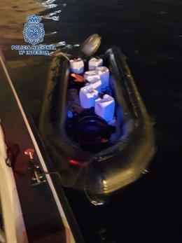 Imagen de una de las embarcaciones empleadas por los detenidos