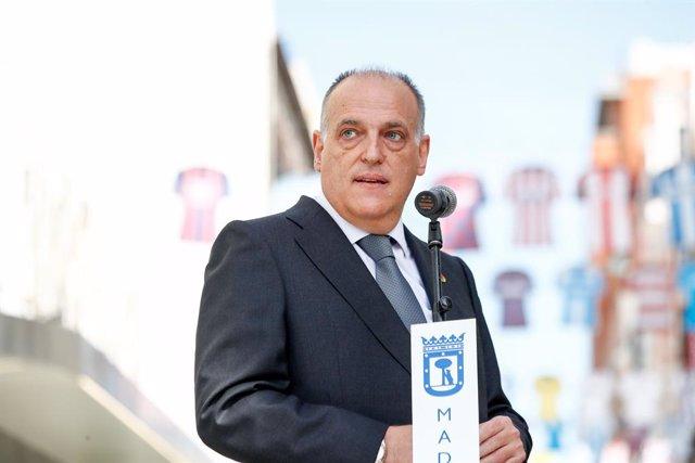 Archivo - Javier Tebas, presidente de LaLiga