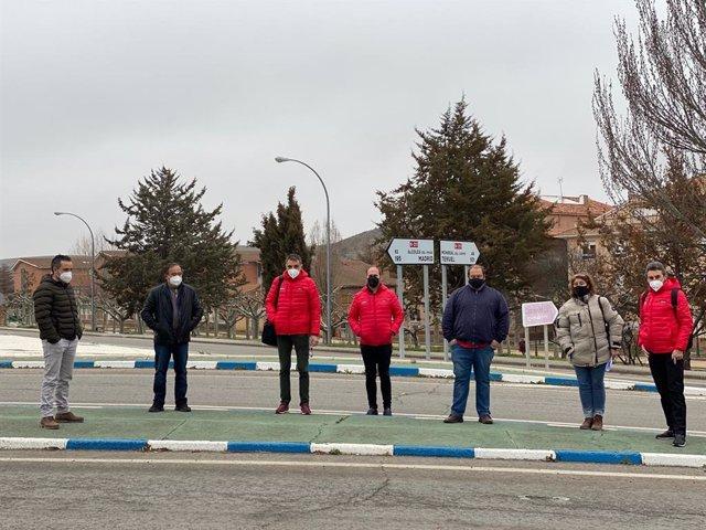 Encuentro entre la Diputación de Guadalajara, el Ayuntamiento de Molina de Aragón y el equipo deportivo y técnico de La Vuelta para preparar la llegada a la localidad de la cuarta etapa de la Vuelta Ciclista a España