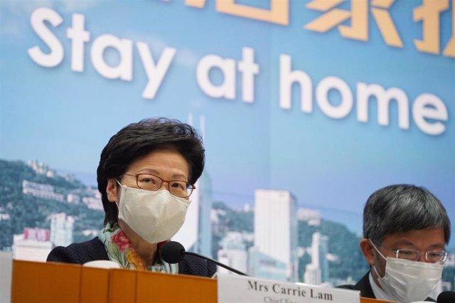 Archivo - La jefa de Gobierno de Hong Kong, Carrie Lam
