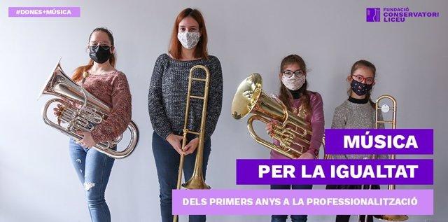 La Fundació Conservatori Liceu lanza un vídeo que reivindica la importancia de visualizar a las mujeres en la música.