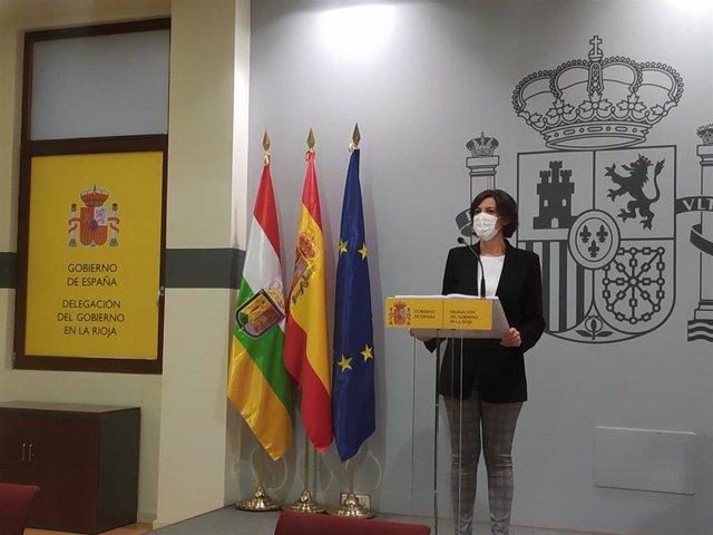 Archivo - La delegada del Gobierno en La Rioja, María Marrodán