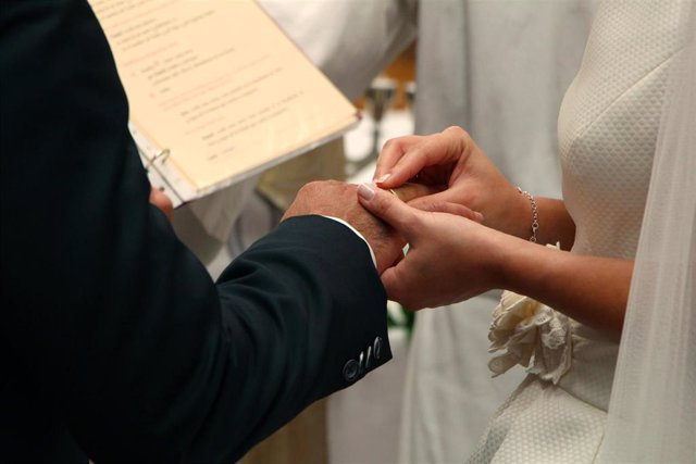 Archivo - Boda religiosa. Matrimonio.