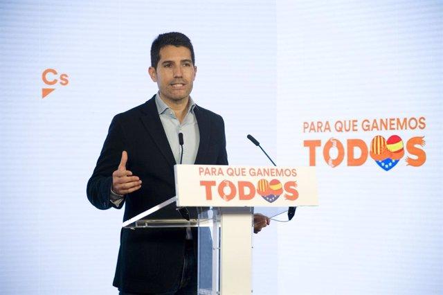 El diputat electe de Cs al Parlament Nacho Martín Blanco en una imatge d'arxiu.