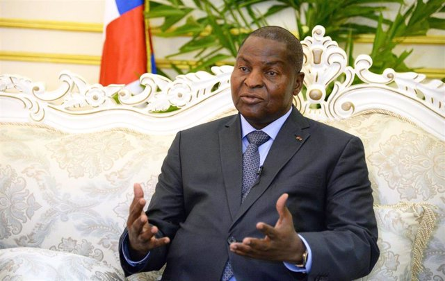 Archivo - El presidente de República Centroafricana, Faustin-Archange Touadéra