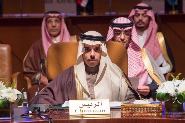 Archivo - El ministro de Exteriores de Arabia Saudí, Faisal bin Farhan